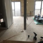 神奈川県相模原市南区の旅館にて、床リフォーム 置床工事を行いました。(フリーフロアCPフクビ化学工業)