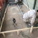 東京都荒川区のビルにて、床リフォーム 置床工事を行いました。