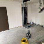 静岡県熱海市のリゾートマンションにて、置床工事を行いました。(フクビ化学工業製フリーフロアCP)