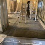 東京都杉並区のスパ複合施設にて置床工事を行いました。(フクビ化学工業フリーフロアCP)
