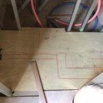 東京都新宿区のマンションにて、床リフォームとして置床工事を行いました。(乾式二重床)