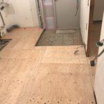 東京都港区のマンションにて、内装リフォームとして置床工事を行いました。(フクビ化学工業フリーフロアCP)