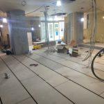神奈川県横浜市青葉区のビルにて、内装リフォーム置床工事を行いました。(フクビ化学工業フリーフロアCP)
