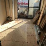東京都品川区の集合住宅にて、置床工事を行いました。(フリーフロアCP)
