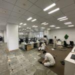 神奈川県藤沢市のオフィスにて、床改修タイルカーペット張替を行いました。(サンゲツTN-300)【秀和建工】