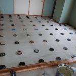 静岡県伊東市のホテルにて、低床工事を行いました。(フクビ化学工業床プラ木レン)【秀和建工】